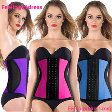 3 Colors Women Lace Cheap 100% Latex Waist Training Corsets Wholesale