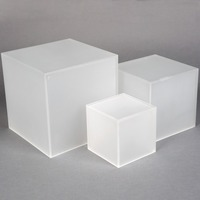 Custom Frosted Acrylic Cube Perspex Cube Riser