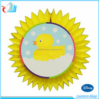 tissue paper honeycomb fan decoration with cartoon card
