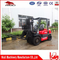Efficiency hydraulic hinged fork forklift