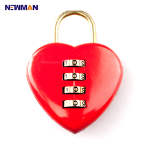 CP8026a Heart Shape Password Lock, Red Security Padlock