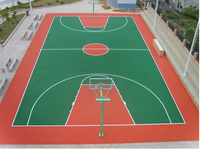 Synthetic Turf Artificial Grass For Basketball Court