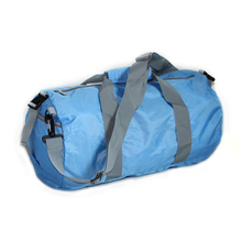 Lightweight foldable nylon travelling bag, multifunctional outdoor athletic 600D leisure barrel sport fold duffel travel bag