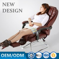 leather office chair Sihoo Office Chair Racing Seat Brown Leather Office Chair Plastic Floor Mat Q026