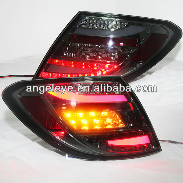 For Mercedes-Benz W204 C180 C200 C260 C300 LED Tail Light All Black Color 2007-2011