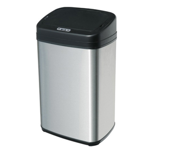 13 gallon 50 liters waste bin square stainless steel soft close dustbin