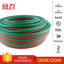 Colored cutting rubber flexible oxygen twin welding hose tube