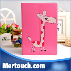 For ipad mini kids case with cute animal picture and flip leather case