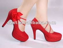 Glamour Shoes Stiletto Shoes Red Evening Shoes XT12081505