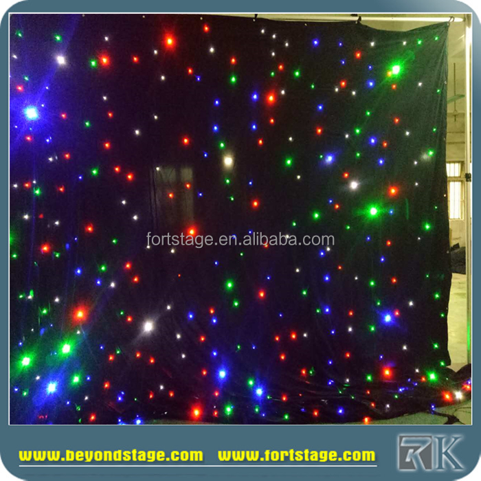 lighting star white cloth/led star light effects/red green blue white led star curtain