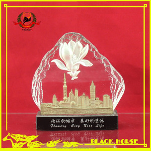 most popular crystal metal arts award trophy
