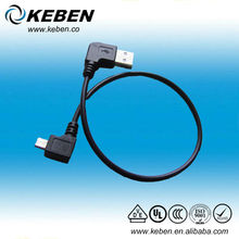 Micro USB to USB male angled jack usb extend cable