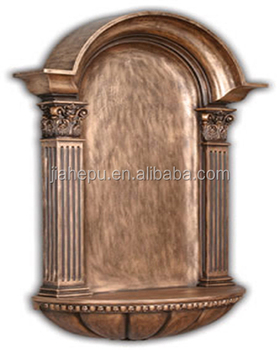 PU home decor wall mounted decorative niche with antique bronze and white clor