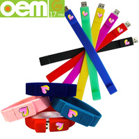 Beautiful food grade fashion silicone bracelet usb flash drive
