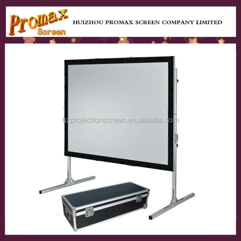 200 inch factory price Outdoor portable Fast fold projector screen Front Rear Fast folding screen