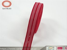 buttonhole elastic webbing,we can weave lines of different thickness and color as per customer's requirement.PGM-092