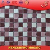 Anti-Slip Swimming Pool Bathroom Kitchen Crystal Glass Mosaic Tiles vinyl tile floor patterns