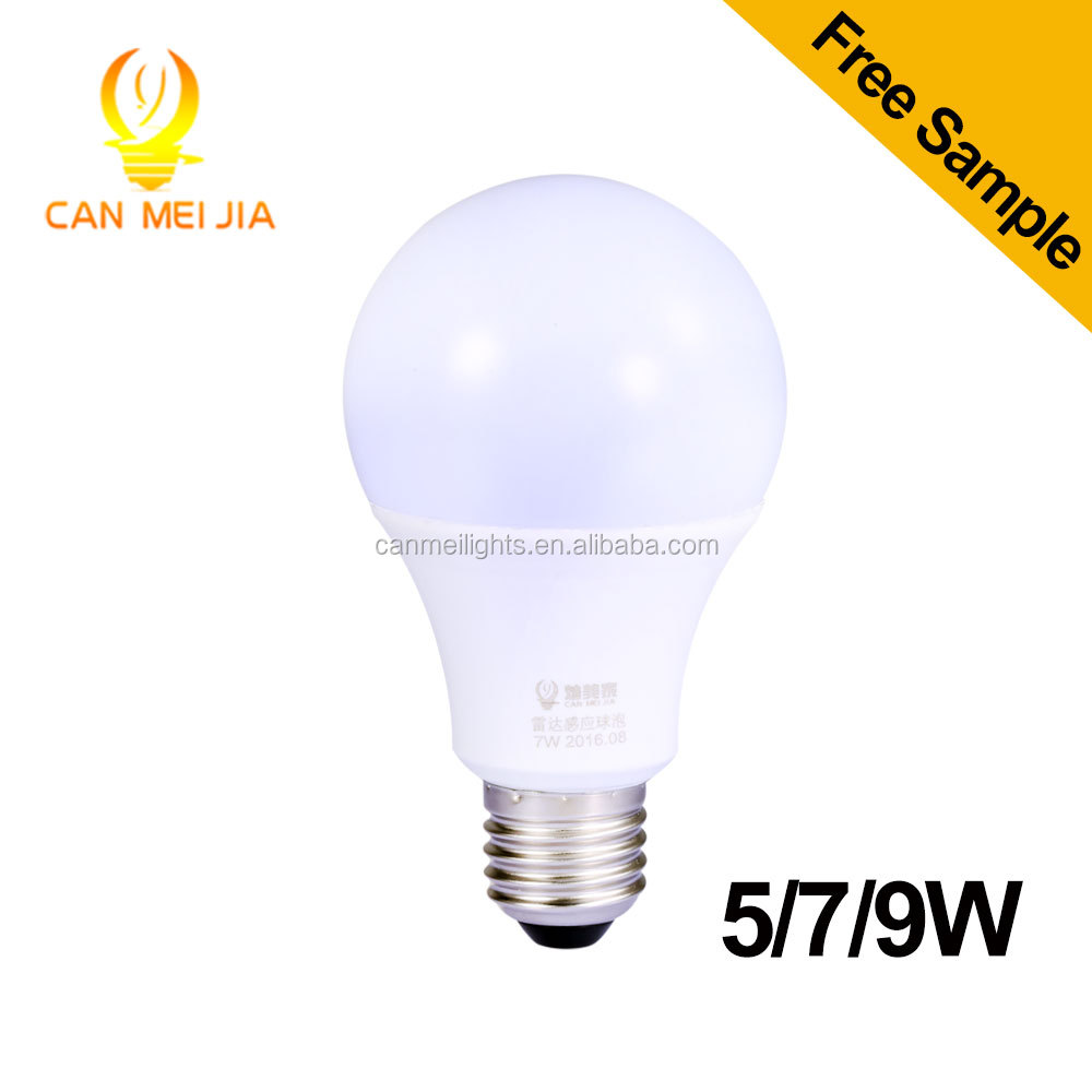 radar motion sensor led bulb 5W 7W 9W LED light for home