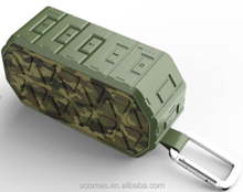 Waterproof IP66 Outdoor tough Army Green Camouflage Bluetooth speaker