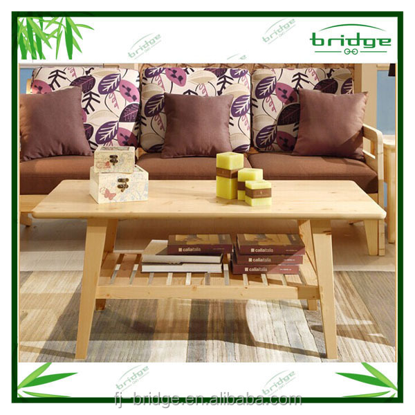 2014 most popular bamboo/ Pine wood coffee or tea table