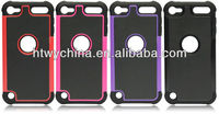 Silicone Dual Layer silicon + plastic hard Combo case for ipod touch 5