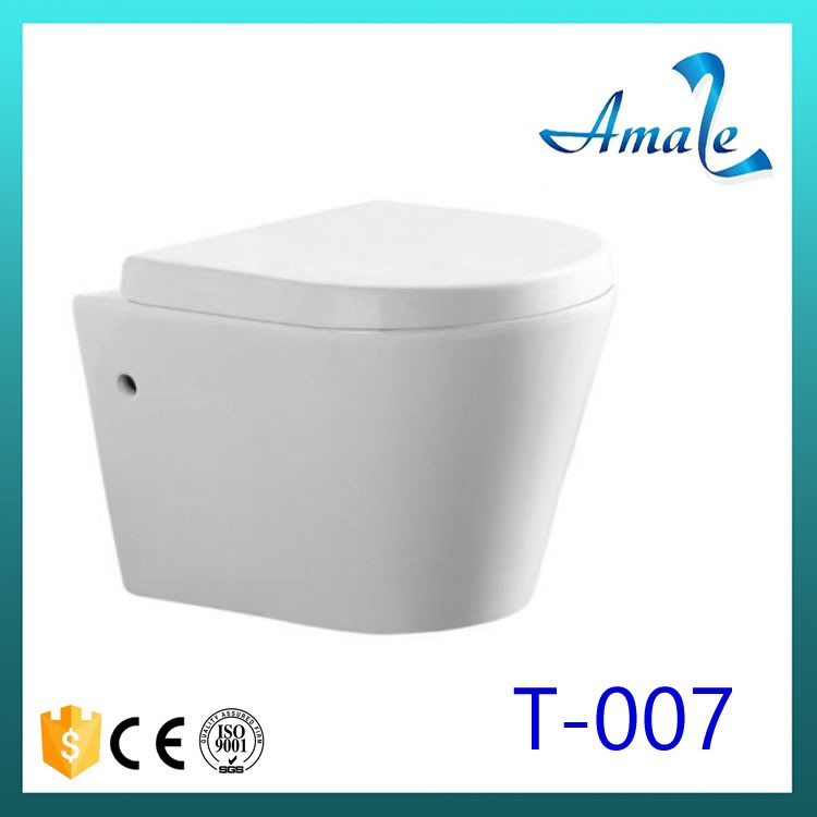 Concealed Tank Feature and Gravity Flushing Flushing Method hotel wall hung toilet for india