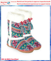 With bows and tassels high boots,girl long boots,fashionable boots for girls