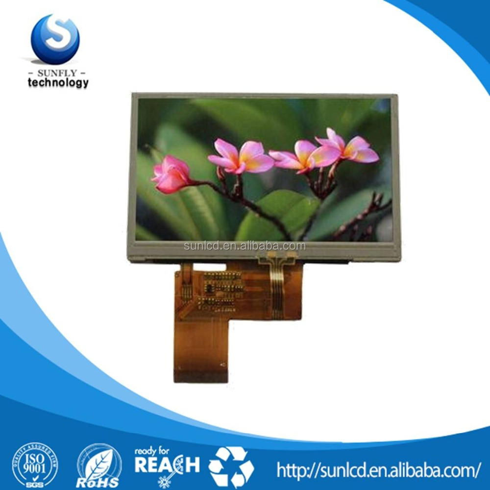 480x272 lcd with 4 wire resistive touch screen 4.3 inch tft lcd screen