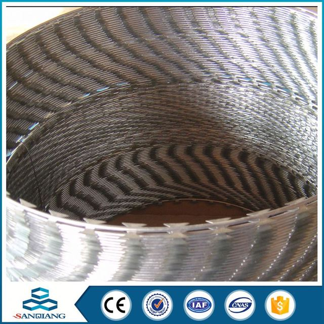 304 Stainless Bto 22 Concertina Blade Razor Wire With Cliped