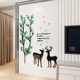 2018 New Design Geometric Deer Head Wall Sticker Geometry Animal Series Decals Art Custom Home Decor 3D acrylic Wall sticker