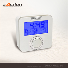 2017 New Design Weather station DCF-77 Radio controlled alarm clock with turn button