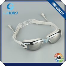 newest design anti-fog race swim goggles with ear-plugs