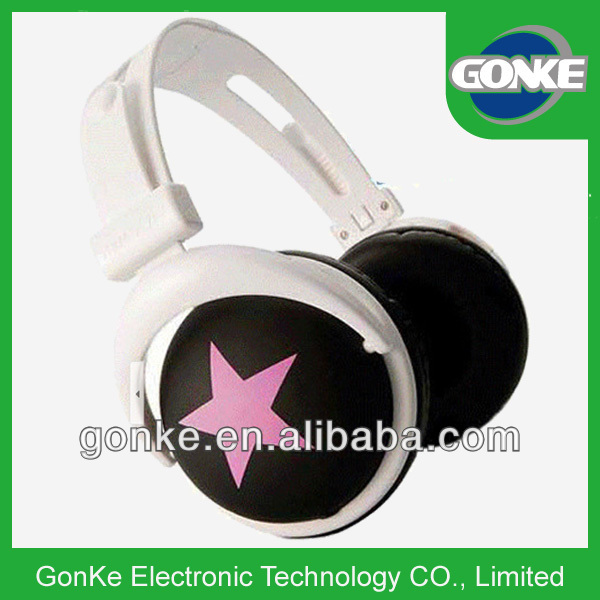 coloful stereo big headphone oem logo design white football jersey no logo headphone