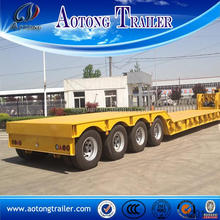 CCC 3 axles low bed trailer installing trailer frame manufacturer