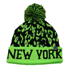 Skiing Hat Winter Sports New York Fairisle Knitted Pom Pom Hat With Cuff