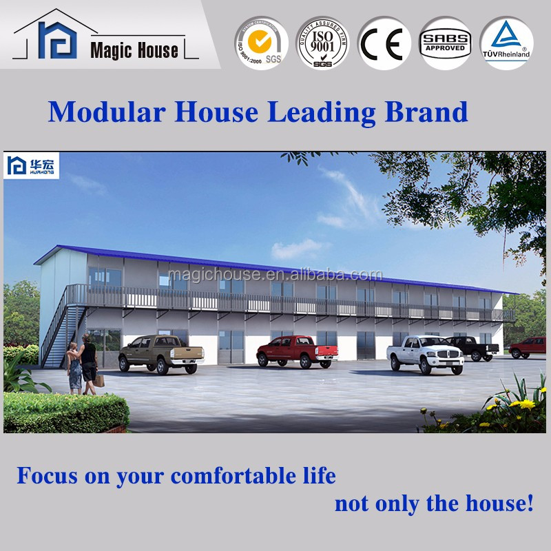 Good quality 2 storey prefab house low cost prefabricated house for sale