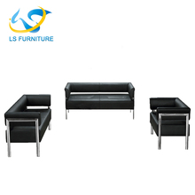 2017 Stainless Steel Base Modern PVC Leather Sofa Set Design
