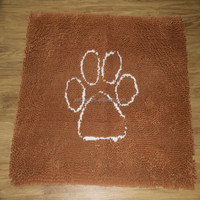 microfiber chenille dog pet bowl mat, microfiber pet food mat