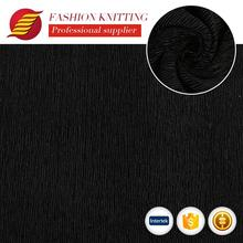 custom soft black polyester textile crushed velvet spandex pleated fabric