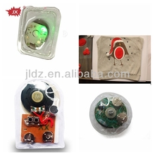 Recordable push button sound module with waterproof for cloth or shoes