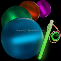 high quality glow pvc transparent inflatable led beach ball