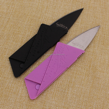 Wholesale cheap stainless steel pocket knife credit card knife