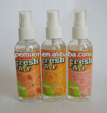 Spray air freshener for car/home fruit flavor scented oil perfume