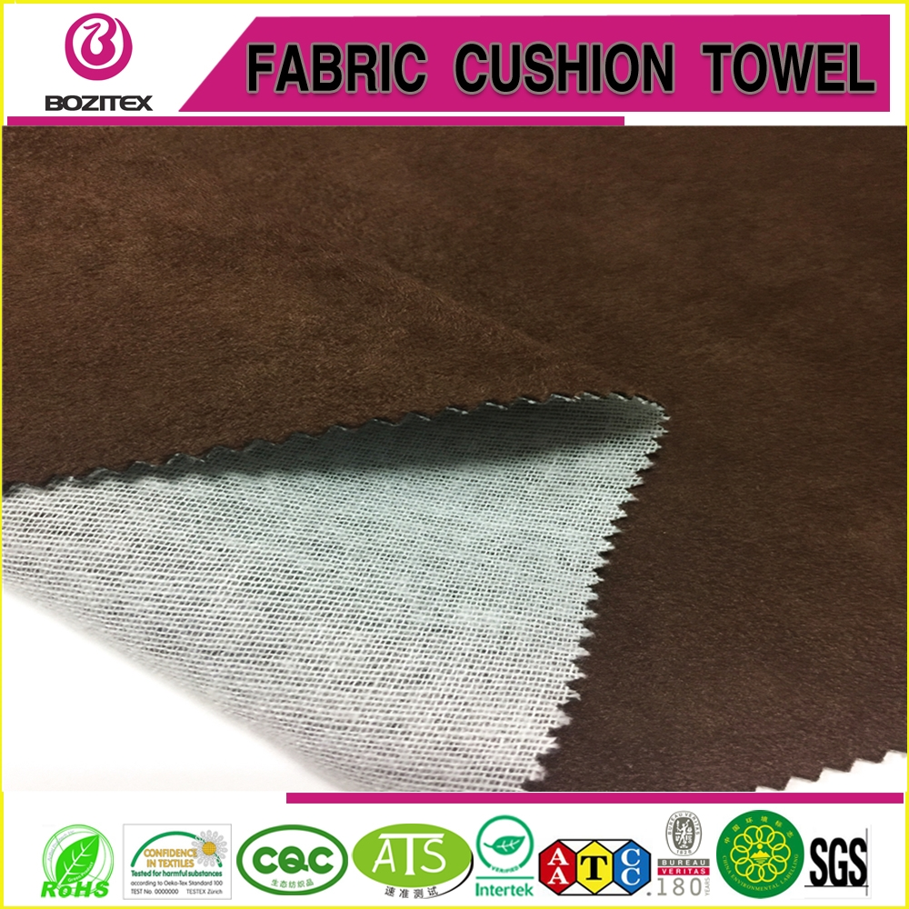 Popular suede composite knit fabric for sofa cover 100% polyester