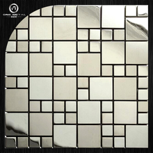 One matal 201 sliver mirror & satin stainless steel mosaic