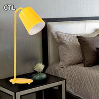 Yellow office energy saving desk lamp LED table lamp modern