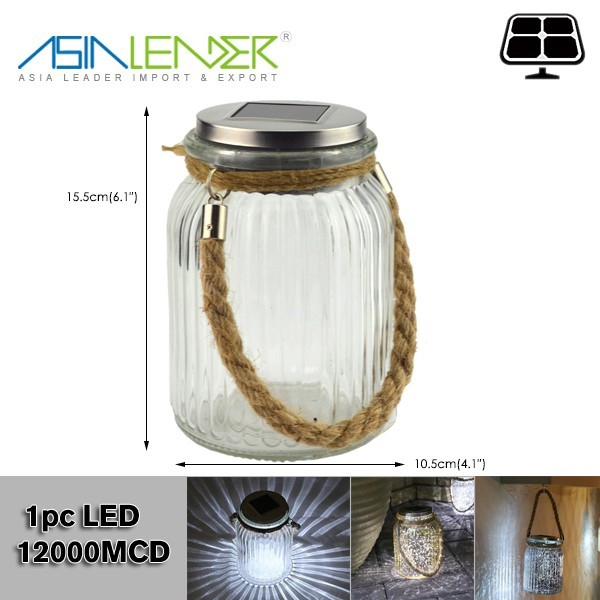 For Regular Mason Jar LED Light String Hanging Solar Lid