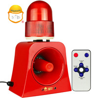 Forest Fire Security Red Flashing Strobe Light Alarm with Fire Alarm Sounds
