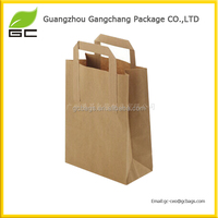 Guangzhou wholesale shopping cheap brown paper bags with handles