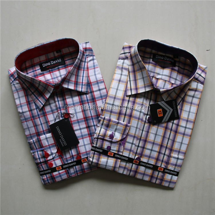 2015 alibaba competitive price selling mixed size long sleeve polyester cotton shirt for men